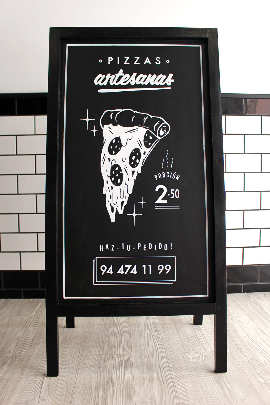 Pizarra Círcolo Pizza 02