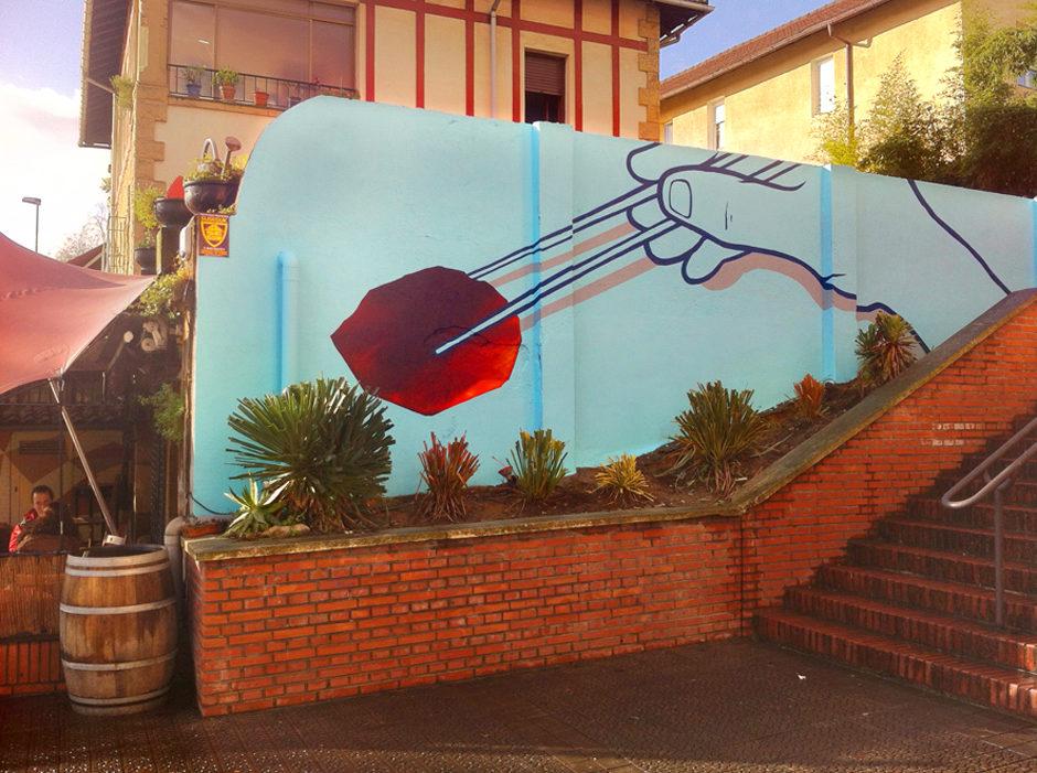 Mural Dando la brasa getxo 02